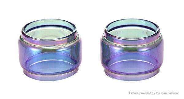 VapeSMOD Replacement Glass Tank for SMOK TFV8 Baby V2 Clearomizer (2-Pack)