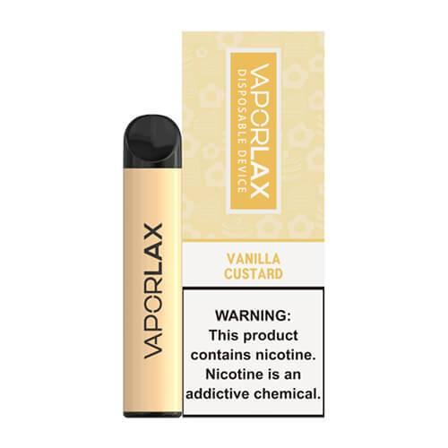 VaporLAX - Disposable Vape Device - Vanilla Custard - Single / 50mg