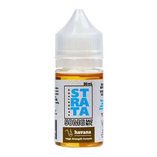 VaporTech Strata eLiquid - Havana SALT NIC - 30ml - 30ml / 30mg
