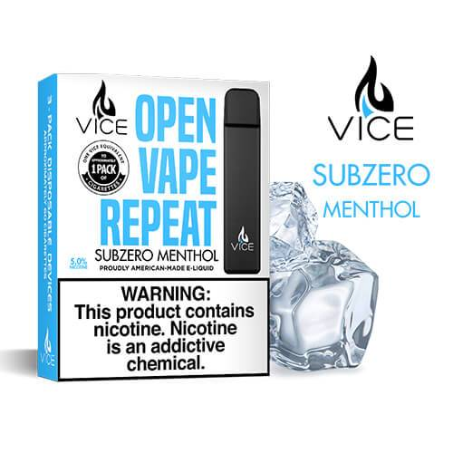 Vice - Portable/Disposable Device - Subzero Menthol (3 Pack) - 3 Pack / 50mg
