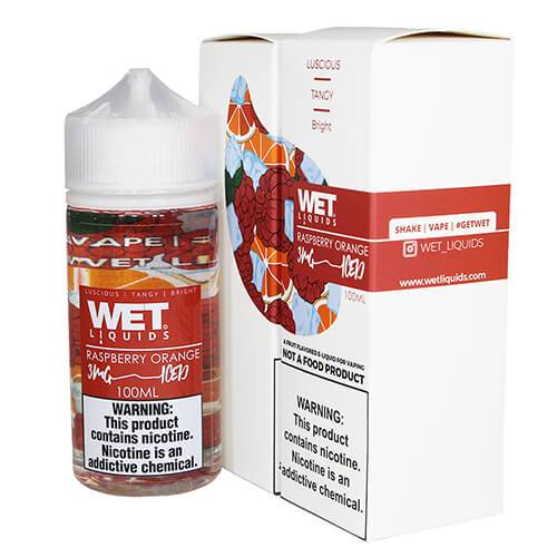 Wet Liquids ICED - Raspberry Orange ICED eJuice - 100ml / 0mg
