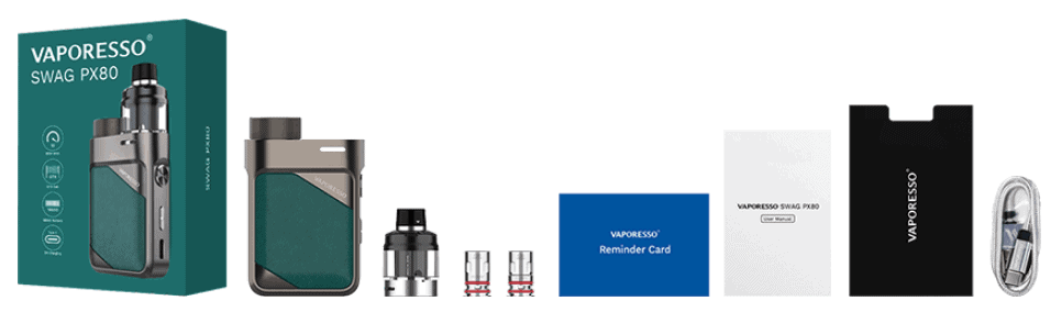 Vaporesso Swag PX80 in the box image