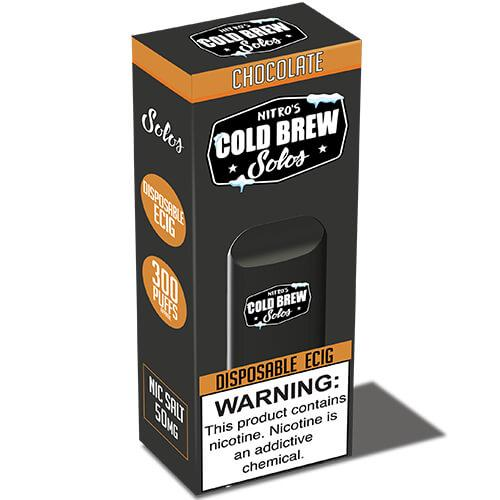 Nitro's Cold Brew Solos - Disposable Device - Chocolate - 3 Pack / 50mg