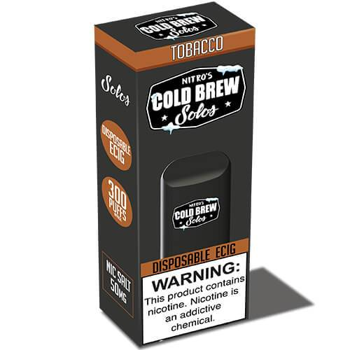 Nitro's Cold Brew Solos - Disposable Device - Tobacco - 3 Pack / 50mg