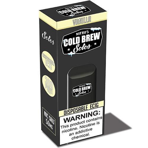 Nitro's Cold Brew Solos - Disposable Device - Vanilla - 3 Pack / 50mg