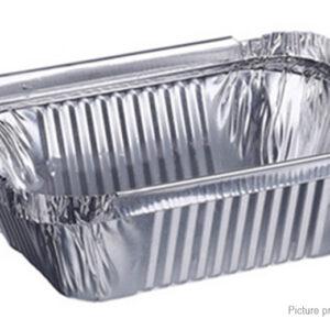 100PCS 230ml Thickened Disposable Oblong Aluminum Foil Pan