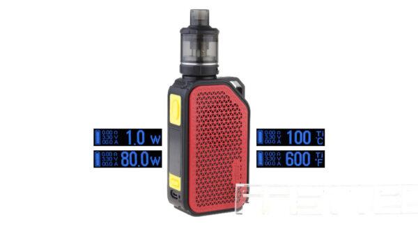 Authentic Wismec ACTIVE 80W 2100mAh TC VW APV Box Mod Kit