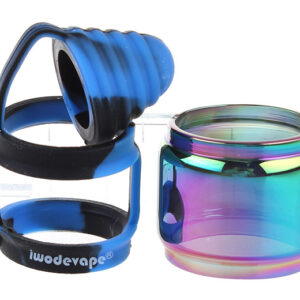 Iwodevape Replacement Glass Tank + Protective Silicone Sleeve for SMOK TFV12
