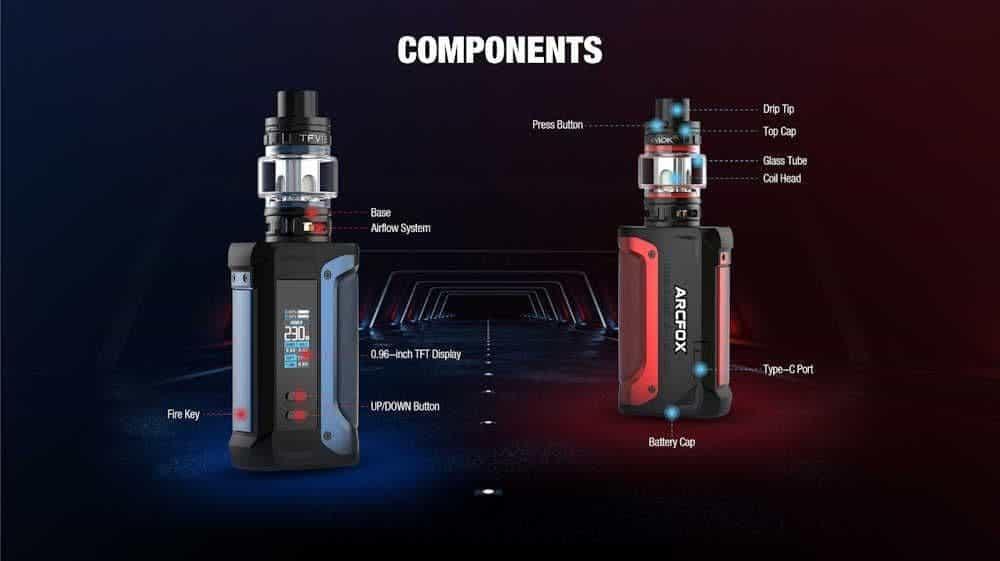 SMOK Arcfox 230W Kit components image