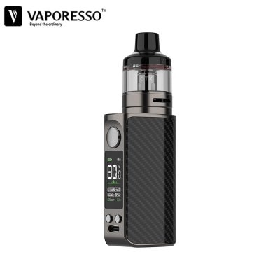 Vaporesso LUXE 80 Kit Built-in 2500mAh Battery 80W VW Mode with 5ml GTX Pod 26 fit GTX-Mesh Coil 0.2ohm/ 0.3ohm 0.96 inch TFT Screen Vape