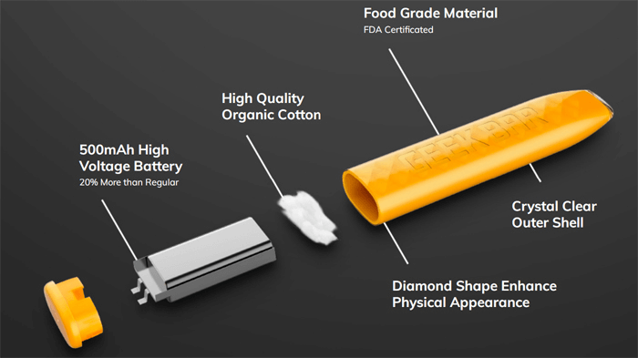 Geekbar Disposable Vape construction image