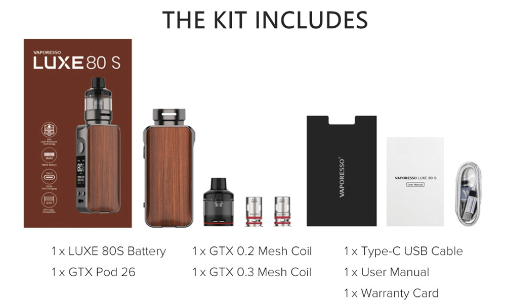 New Vaporesso Luxe 80s 80w kit image